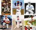 Autographs:Photos, Baseball Hall of Famers & Stars Signed Photograph Hoard of128....