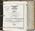 Transportation:Space Exploration, Apollo 11 Grumman Apollo Operations Handbook - Lunar Module LM5 And Subsequent Book in Binder....