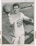 Football Collectibles:Photos, 1940 Sammy Baugh Original Photograph....