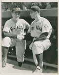 Baseball Collectibles:Photos, 1939 Lou Gehrig and Babe Dahlgren Original Photograph....