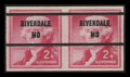 Stamps, 2c Carmine Rose, Imperforate Error (1055b),...
