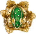 Estate Jewelry:Rings, Enamel, Gold Ring, David Webb. ...