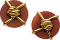 Estate Jewelry:Earrings, Carnelian, Gold Earrings, A. Cipullo, Cartier, circa 1974. ...
