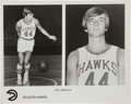Basketball Collectibles:Photos, 1973-74 Atlanta Hawks Signed Photographs Lot of 13 withMaravich....
