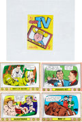 "Non-Sport Cards:Singles (Post-1950), 1960's Topps Test ""Crazy TV"" Cards, Proofs and Wrapper. ..."