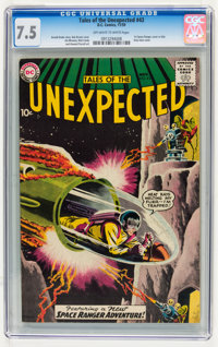 Tales of the Unexpected #43 (DC, 1959) CGC VF- 7.5 Off-white to white pages