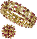 Estate Jewelry:Suites, Ruby, Gold Jewelry Suite. ... (Total: 2 Items)