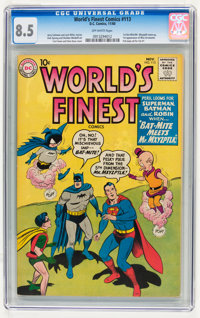 World's Finest Comics #113 (DC, 1960) CGC VF+ 8.5 Off-white pages