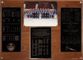 Hockey Collectibles:Others, 1989-90 Edmonton Oilers Team Photo Plaque From Locker Room - Stanley Cup Season!...