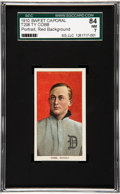 Baseball Cards:Singles (Pre-1930), 1909-11 T206 Sweet Caporal Ty Cobb, Red Portrait SGC 84 NM 7....