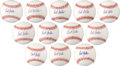 Autographs:Baseballs, Circa 2009 Bob Feller Single Signed Baseballs Lot of 72....