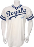 Baseball Collectibles:Uniforms, 1982 George Brett Game Worn Jersey....