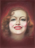 Pin-up and Glamour Art, CHARLES GATES SHELDON (American, 1889-1960). Joan Crawford,movie magazine cover. Pastel on board. 25 x 19 in.. Signed l...