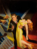 Paintings, RAFAEL DE SOTO (American, 1904-1987). New Detective, pulp cover, January 1948. Oil on board. 22.75 x 17.75 in.. Signed l...