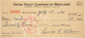 "Autographs:Checks, 1946 Lewis ""Hack"" Wilson Signed Check...."