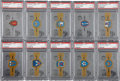 "Non-Sport Cards:Sets, 1966 Topps ""Rat Patrol - U.S. Army Insignia Rings"" Complete Set(22) - #2 on the PSA Set Registry. ..."