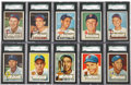 Baseball Cards:Lots, 1952 Topps Baseball High End SGC-Graded Collection (27 Different)....