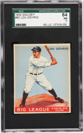 Baseball Cards:Singles (1930-1939), 1933 Goudey Lou Gehrig #92 SGC 84 NM 7....