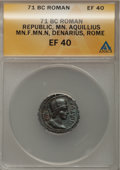 Ancients:Ancient Lots  , Ancients: Roman Republican. Lot of two certified AR denarii....(Total: 2 coins)