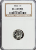 Proof Roosevelt Dimes: , 1954 10C PR68 Cameo NGC. NGC Census: (105/7). PCGS Population(23/1). Numismedia Wsl. Price for problem free NGC/PCGS coin...