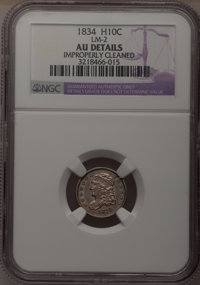 1834 H10C --Improperly Cleaned--NGC Details. AU. LM-2. NGC Census: (8/477). PCGS Population (17/420). Mintage: 1,480,000...