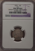 Bust Dimes, 1825 10C --Improperly Cleaned, Obverse Damage--NGC Details. Fine.JR-5. NGC Census: (2/88). PCGS Population (0/70). Mintage...