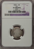 Early Dimes: , 1803 10C --Bent--NGC Details. AG. JR-3. NGC Census: (0/26). PCGSPopulation (1/37). Mintage: 33,040. Numismedia Wsl. Price ...