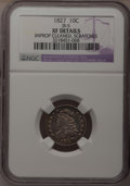 Bust Dimes, 1827 10C --Scratches, Improperly Cleaned--NGC Details. XF. JR-5.NGC Census: (7/221). PCGS Population (18/211). Mintage: 1,...