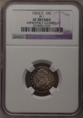 Bust Dimes: , 1824/2 10C --Improperly Cleaned--NGC Details. XF. JR-1. NGC Census:(2/41). PCGS Population (0/31). Mintage: 100,000. Numis...