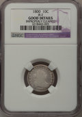 Early Dimes: , 1800 10C --Improperly Cleaned--NGC Details. Good. JR-2. NGC Census:(0/41). PCGS Population (1/60). Mintage: 21,760. Numism...