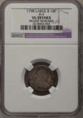 Early Dimes: , 1798 10C Large 8--Mount Removed--NGC Details. VG. JR-4. NGC Census:(1/53). PCGS Population (0/60). Mintage: 27,550. Numis...