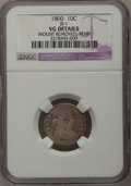 Early Dimes: , 1800 10C --Bent, Mount Removed--NGC Details. VG. JR-1. NGC Census:(0/41). PCGS Population (1/57). Mintage: 21,760. Numisme...