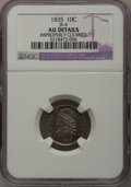 Bust Dimes: , 1835 10C --Improperly Cleaned--NGC Details. AU. JR-4. NGC Census: (15/348). PCGS Population (43/252). Mintage: 1,410,000. N...