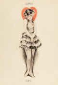 Pin-up and Glamour Art, CHARLES GATES SHELDON (American, 1889-1960). Coquette.Pastel on board. 28 x 22 in.. Signed lower center-right. ...