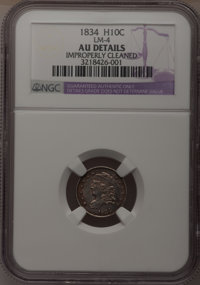 1834 H10C --Improperly Cleaned--NGC Details. AU. LM-4. NGC Census: (8/477). PCGS Population (17/420). Mintage: 1,480,000...