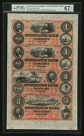 Obsoletes By State:Connecticut, Stonington, CT- Stonington Bank $1-$1-$2-$3 G8a-G8a-G16a-G28a Uncut Sheet. ...