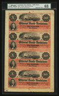 Obsoletes By State:Louisiana, New Orleans, LA- Citizens' Bank of Louisiana $10-$10-$10-$10 G26a-G26a-G26a-G26a Uncut Sheet. ...
