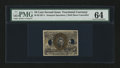 Fractional Currency:Second Issue, Milton 2E10F.4 10¢ Second Issue Experimental PMG Choice Uncirculated 64....