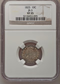 Bust Dimes: , 1825 10C VF35 NGC. JR-3. NGC Census: (4/81). PCGS Population(3/63). Mintage: 410,000. Numismedia Wsl. Price for problem f...