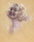 Pin-up and Glamour Art, ROLF ARMSTRONG (American, 1889-1960). Pin-Up. Pastel onpaper. 24.5 x 19.5 in.. Signed lower right. ...