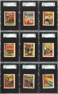 "Non-Sport Cards:Sets, 1930's R25-2 ""Thrilling Stories"" High Grade Partial Set (18/30)...."