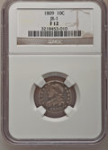 Bust Dimes: , 1809 10C Fine 12 NGC. JR-1. NGC Census: (1/33). PCGS Population(5/45). Mintage: 51,065. Numismedia Wsl. Price for problem...