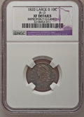 Bust Dimes: , 1820 10C Large 0--Improperly Cleaned--NGC Details. XF. JR-13. NGCCensus: (4/194). PCGS Population (8/119). Mintage: 942,5...