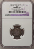 Bust Dimes: , 1821 10C Large Date--Improperly Cleaned--NGC Details. XF. JR-4. NGC Census: (12/179). PCGS Population (16/143). Mintage: 1...