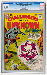 Challengers of the Unknown #16 (DC, 1960) CGC VF/NM 9.0 Off-white pages