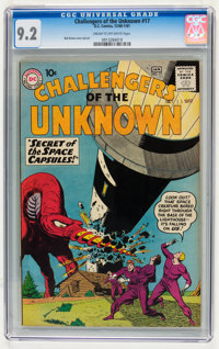 Challengers of the Unknown #17 (DC, 1961) CGC NM- 9.2 Cream to off-white pages