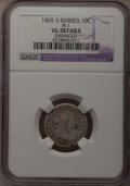 Early Dimes: , 1805 10C 5 Berries--Damaged--NGC Details. AG. JR-1. PCGS Population(2/21). (#4478). From The Donal...