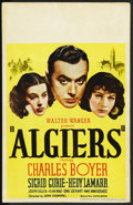 "Movie Posters:Adventure, Algiers (United Artists, 1938). Window Card (14"" X 22""). Adventure.Starring Charles Boyer, Hedy Lamarr, Sigrid Gurie, Josep..."