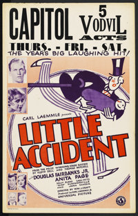 "Little Accident (Universal, 1930). Window Card (14"" X 22"")"