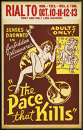 "Movie Posters:Drama, The Pace That Kills (Willis Kent Productions, 1935). Window Card(14"" X 22""). ..."